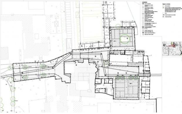 Planimetria progetto esecutivo Via dell'Acqua, Chiesa San Giuliano