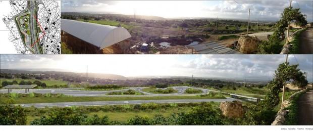 Timpa Rossa, inquadramento del progetto, prima e dopo l'intervento