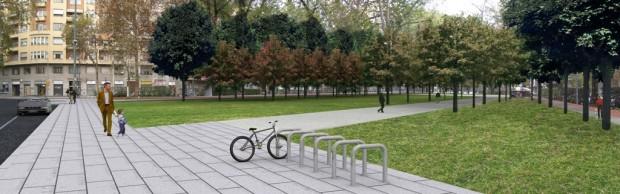 Fotoinserimento aree verdi in viale Argonne