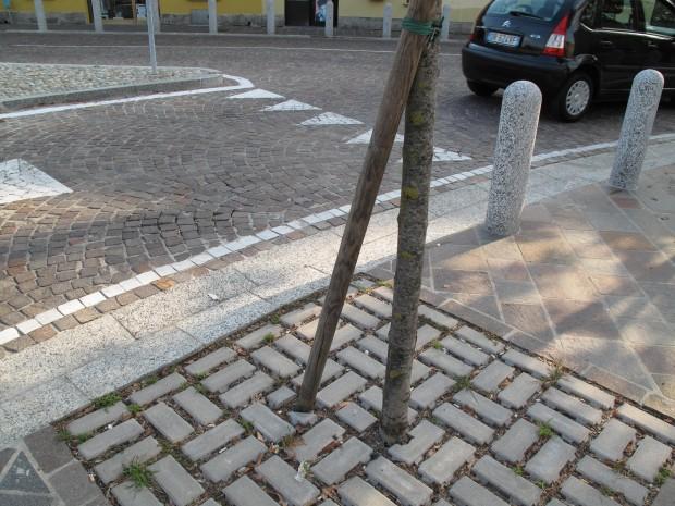 Particolare pavimentazioni e sistema di drenaggio
