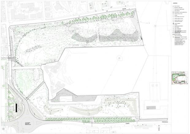 Planimetria progetto esecutivo Parco del Cimitero