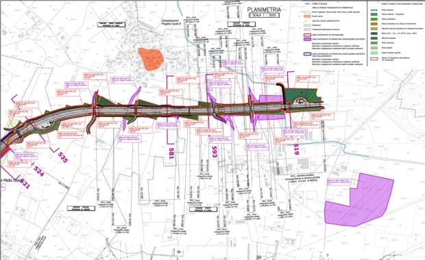 Tratta A (km11+800 -14+236), inquadramento territorale interventi di mitigazione ambientale
