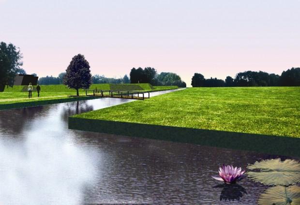 Render del nuovo canale d'acqua
