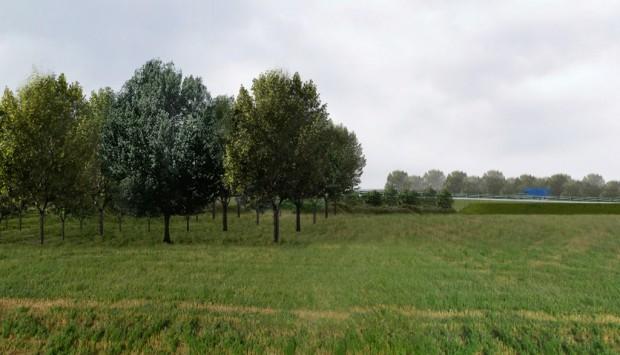 Fotoinserimento, Tratta A al km 13, transizione