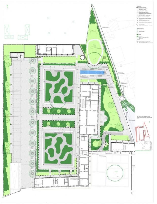 Progetto per la sistemazione del giardino storico di pertinenza alla Villa Cacherano d'Osasco