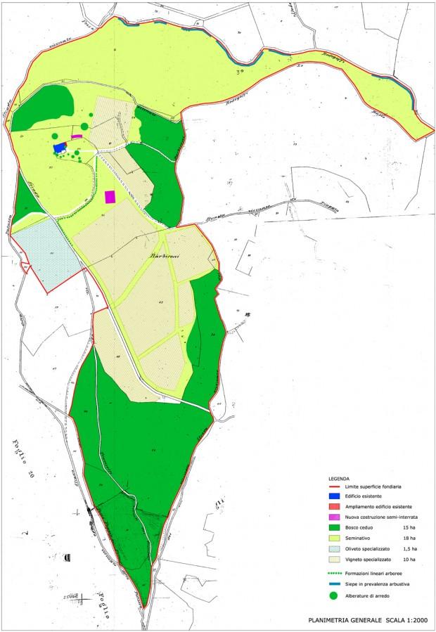 Planimetria proprietà agricola
