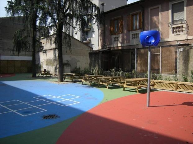 2008 Scuola elementare Oriani. Canestro area didattica all'aperto