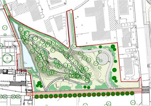 Planimetria progetto esecutivo Bosco del Ginestrino