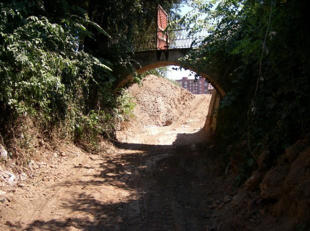 Ponte di accesso al bosco dalla Villa