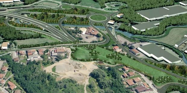 Varese, fotoinserimento dello svincolo di Lozza