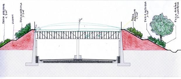 Schizzo di progetto, sezione galleria artificiale