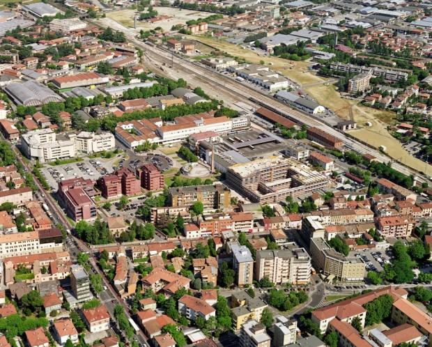 Vista aerea dell'area di progetto