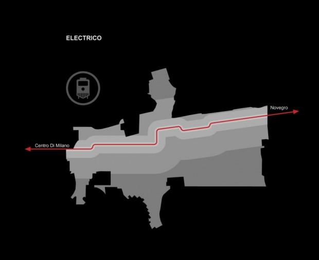 Schema del collegamento metrotranviario