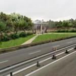 Fotoniserimento progetto di riqualificazione menhir visto dalla strada